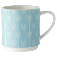 Waitrose Blue Chevron Dash Stacker Mug