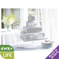 Fiona Cairns 4-tier Ribboned Wedding Cake (Fruit)