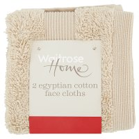 Waitrose Egyptian Cotton Fawn Facecloths