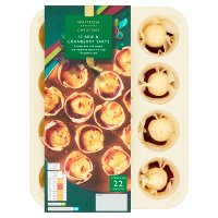 Waitrose Party 12 brie & cranberry filo tartlets
