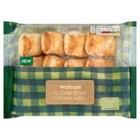 Waitrose 12 flaky mini cheese rolls