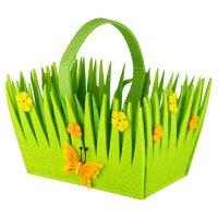 Waitrose Felt Flower Basket