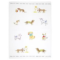 Waitrose Cooking dogs tea towel