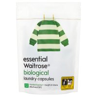 essential Waitrose biological laundry capsules 12 washes