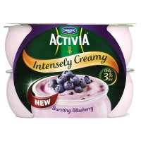 Activia Intensely Creamy bursting blueberry yogurts