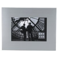 Insignia brushed metal photo frame - 8x10