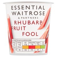 Waitrose rhubarb fruit fool