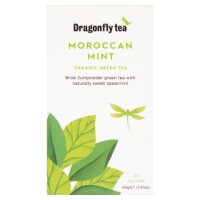 Dragonfly organic moroccan mint green 20 tea bags