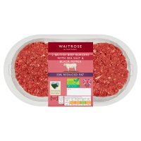 Waitrose Reduced Fat British Beef Burgers