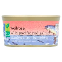 essential Waitrose skinless & boneless wild red salmon