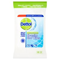 Dettol cleansing floor wipes anti bacterial (pack of 15)
