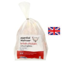 essential Waitrose Frozen British whole chicken