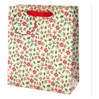 Waitrose Medium Holly Gift Bag