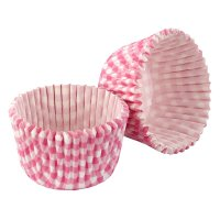 Tala pink gingham cupcake cases, pack 32