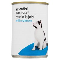 essential Waitrose cat - salmon in jelly