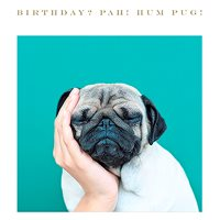 Image of Bah Hum Pug Birthday Card