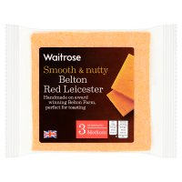 Waitrose Belton Farm medium Red Leicester cheese, strength 3