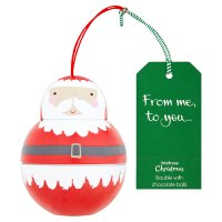 Waitrose Bauble Father Christmas with Chocolate