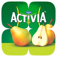 Activia pear yogurts