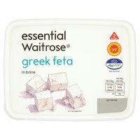 essential Waitrose Greek feta cheese in brine, strength 3