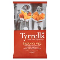 Tyrrells swanky veg sweet potato, beetroot crisps