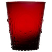 Waitrose Pressed Glass Wine Glass Red