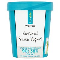 Waitrose LoveLife Calorie Controlled frozen natural yogurt dessert