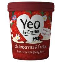 Yeo Ice Cream Strawberries & Cream