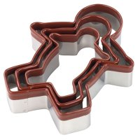 Tala stainless steel gingerbread man cutters, set of 3