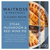 Waitrose steak, mushroom & red wine pie