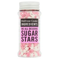 Waitrose Cooks' Homebaking pink & white sugar stars