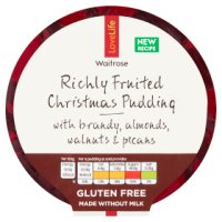Waitrose LoveLife Richly Fruited Christmas Pudding