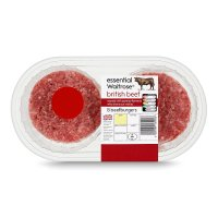 essential Waitrose 8 British beef burgers