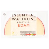 essential Waitrose dutch edam cheese wedge