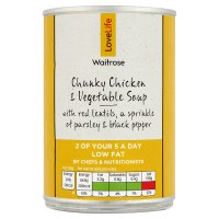 Waitrose LoveLife chunky chicken & vegetable soup
