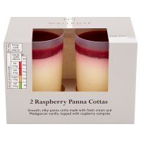 Waitrose Seriously raspberry panna cotta