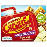 Harvest cheweee bars with white chocolate chips