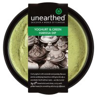 Unearthed yogurt and green harissa dip