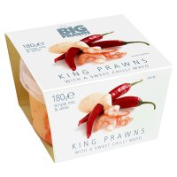 The BP Co king prawns with a sweet chilli mayo