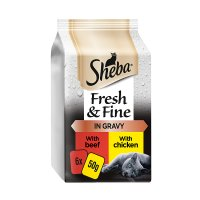Sheba fresh choice succulent selection in gravy pouch cat food