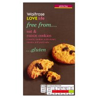 Waitrose LOVE life gluten free oat & raisin cookies