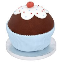 Waitrose Giant cherry topped cupcake blue