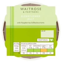 Waitrose elderflower jelly with berries