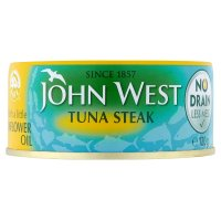 John West No Drain tuna steak with sunflower oil