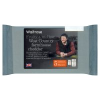 Waitrose Denhay Farm mature Cheddar cheese, strength 5