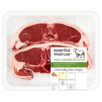 essential Waitrose 2 New Zealand lamb Barnsley loin chops