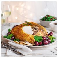 Turkey crown with pork, slow cooked duck & cherry stuffing