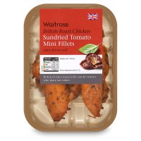 Waitrose British sundried tomato roast chicken mini fillets