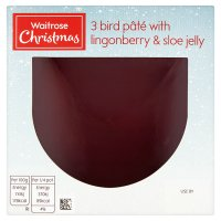 Waitrose Christmas 3 Bird Pâté with Lingonberry & Jelly