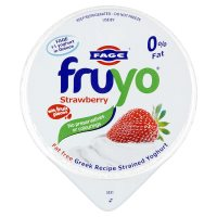 Fruyo fat free Greek yoghurt with strawberry